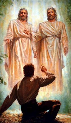 Popular Mormon depiction of the First Vision